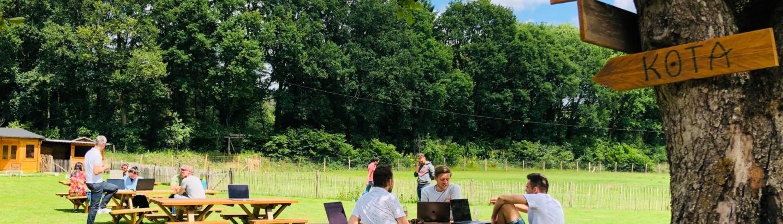vergaderen outdoor corona teambuilding limburg Beringen